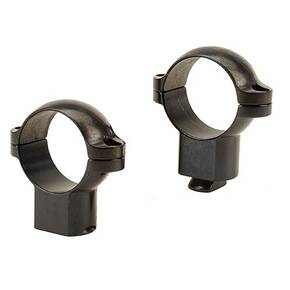 "Leupold 2-Piece STD Windage Adjustable Steel Rings 1"", Super High, Gloss"