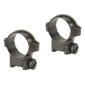 "Leupold 2-Piece Solid Steel Ringmounts - Sako 1"", Medium, Gloss Black"
