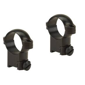"Leupold 2-Piece Solid Steel Ringmounts - Sako 1"", High, Gloss Black"