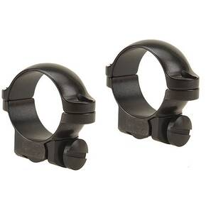 "Leupold 2-Piece Solid Steel Ringmounts - Ruger No. 1 & .77/22 1"", Low, Gloss Black"