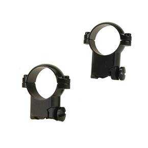 "Leupold 2-Piece Solid Steel Ringmounts - Ruger M77 1"", High, Gloss Black"