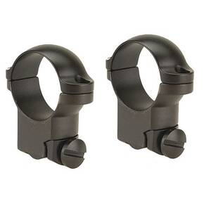 "Leupold 2-Piece Solid Steel Ringmounts - Ruger M77 1"", High, Matte Black"