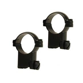 "Leupold 2-Piece Solid Steel Ringmounts - Ruger M77 1"", Super High, Matte Black"