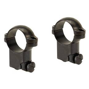 "Leupold 2-Piece Solid Steel Ringmounts - Ruger No. 1 & 77/22 1"", High, Gloss Black"