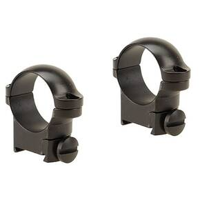 "Leupold 2-Piece Solid Steel Ringmounts - Sako 1"", Medium, Matte Black"