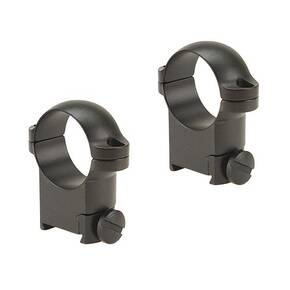 "Leupold 2-Piece Solid Steel Ringmounts - Sako 1"", High, Matte Black"