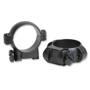 "Leupold 2-Piece Solid Steel Ringmounts - Ruger No. 1 & 77/22, 1"", Low, Matte Black"