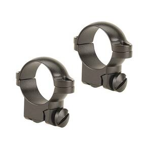 "Leupold 2-Piece Solid Steel Ringmounts - Ruger M77 1"" Low, Matte Black"