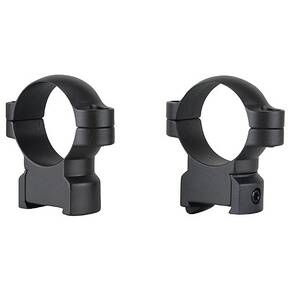 Leupold 2-Piece Solid Steel Ringmounts - CZ 550, 30mm High, Matte Black