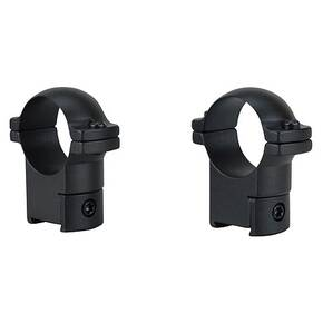 "Leupold 2-Piece Solid Steel Ringmounts - CZ 527, 1"" High, Matte Black"