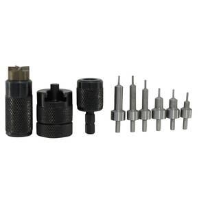 Lyman E-ZEE Trimmer Handgun Set & Pilots for 9mm .38 Spl .357 .40 S&W .44 Mag & 45 ACP