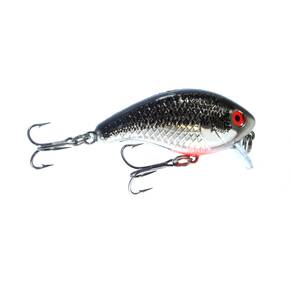 Mann's Bait Co. Baby 1 Minus Shallow Crankbait Hard Lure 1/4 oz - Chrome/Black