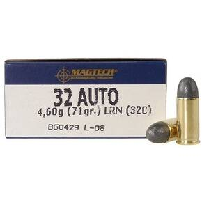 MagTech Handgun Ammunition .32 ACP 71 gr LRN 905 fps 50/box