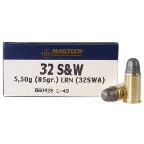 MagTech Handgun Ammunition .32 S&W 85 gr LRN 680 fps 50/box