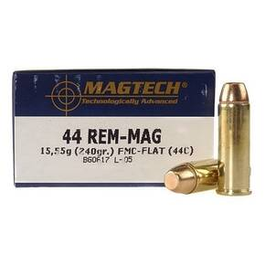 MagTech Handgun Ammunition .44 Mag 240 gr FMJ 1180 fps 50/box