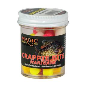 Magic Products Biodegradable Crappie Bits Lure Dough (Jar) - Mixed
