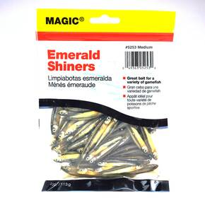 Magic Products Preserved Baits Shiner Minnows 4 oz 48/ct - Medium Natural