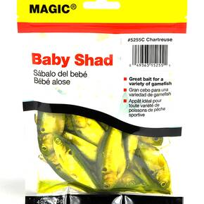 "Magic Products Preserved Baits Shad 4 oz Pouch 3-4"" - Chartreuse"