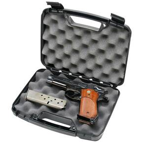 "MTM Snap-Latch Single Pistol Case for Up to 6"" Barrels Black"