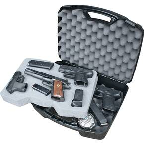 "MTM Snap-Latch Four 4 Pistol Case for Up to 8"" Barrel Black"