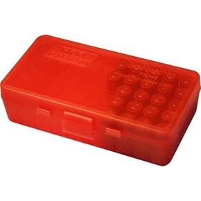 MTM Case Guard P-50 Series Handgun Ammo Box .45 Auto / 10mm, 50 rd