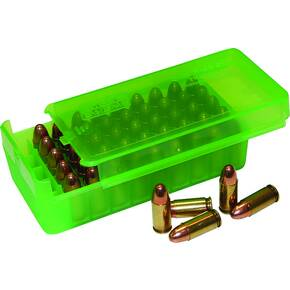 MTM Side Slide Handgun Ammo Box - 9mm Clear Green