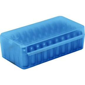 MTM Side Slide Handgun Ammo Box - 9mm Clear Blue