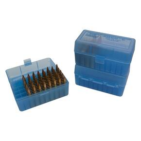 MTM Case-Gard R-50 Series (RM-50) Rifle Ammo Box for Select Cartridge Sizes