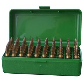 MTM Case-Gard R-50 Series Rifle Ammo Box - 50/rd Green