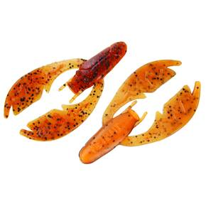"NetBait Paca Chunk Soft Trailer Lure 3-1/4"" 6pk - Natural Craw"