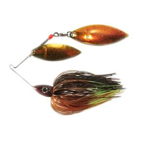 Nichols Pulsator Metal Flake Double Spinner Lure 3/8 oz - Bluegill