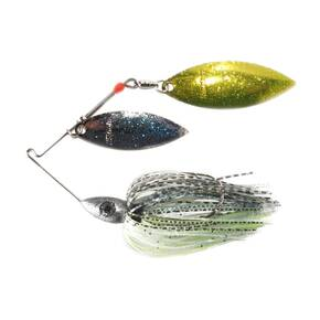 Nichols Pulsator Double Spinner Shad Lure 3/8 oz - Metal Flake Bombshell