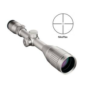 "REFURBISHED Nikon Titanium Rifle Scope - 3.3-10x44mm AO Nikoplex Reticle 10.1-30.4' FOV 3.6"" ER Silver"