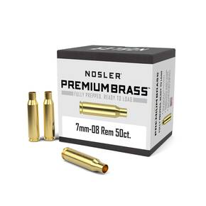 Nosler Unprimed Brass Rifle Cartridge Cases 50/ct 7mm-08