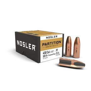 "Nosler Partition Bullets .458 cal .458"" 500 gr SPT-PP 25/ct"