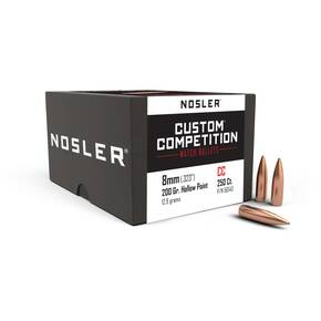 "Nosler Custom Competition Bullets 8mm .323"" 200 gr HPBT 250/ct"