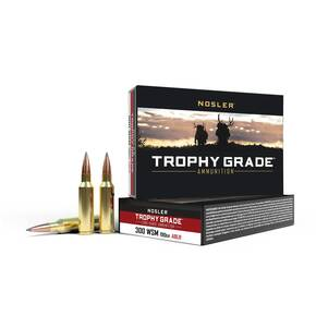 Nosler Trophy Grade Long Range Rifle Ammunition .300 WSM 190 gr ACB LR 20/Box