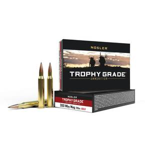 Nosler Trophy Grade Long Range Rifle Ammunition .300 Wby Mag 210 gr ACB LR 20/Box