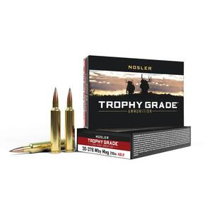 Nosler Trophy Grade Long Range Rifle Ammunition .30-378 Wby Mag 210 ga ACB LR 20/box