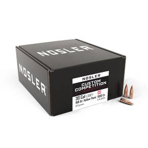 Nosler Custom Competition Bullets .30 cal 168 gr HPBT 1000/ct