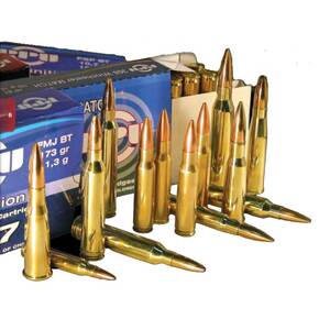 PPU Rifle Ammunition 7.62x54R 150 gr SP 2840 fps - 20/box