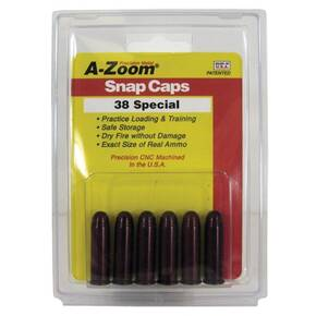 A-Zoom Metal Snap Caps .38 Special 6/ct