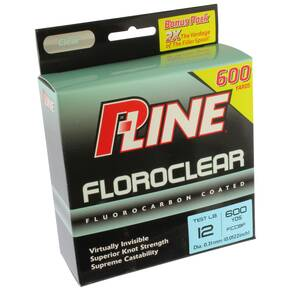 P-Line Florocarbon Coated Fish LIne 12 lb 600 yds - Clear