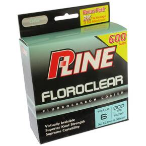 P-Line Florocarbon Coated Fish LIne 6 lb 600 yds - Clear