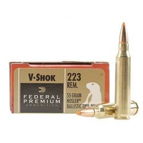 Federal Premium V-Shok Rifle Ammunition .223 Rem 40 gr BT 3700 fps - 20/box