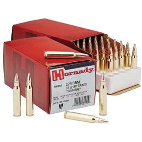 Hornady Custom Rifle Ammunition .223 Rem 55 gr SP 3240 fps - 50/box