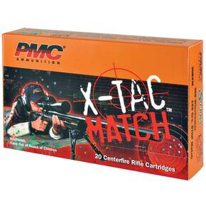 PMC X-TAC MATCH Rifle Ammunition .223 Rem 77 gr OTM 2790 fps - 20/box