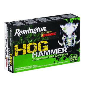 Remington Hog Hammer Rifle Ammunition .30-06 Sprg 168 gr TSX 2790 fps - 20/box