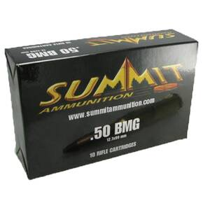 Summit Rifle Ammunition with Once-Fired Brass .50 BMG 619 gr APIT  - 10/box
