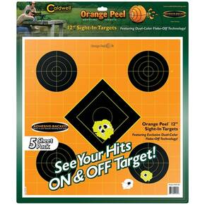 "Battenfeld Technologies Caldwell Orange Peel Targets Sight-In Target - 12"", 5/Pack"